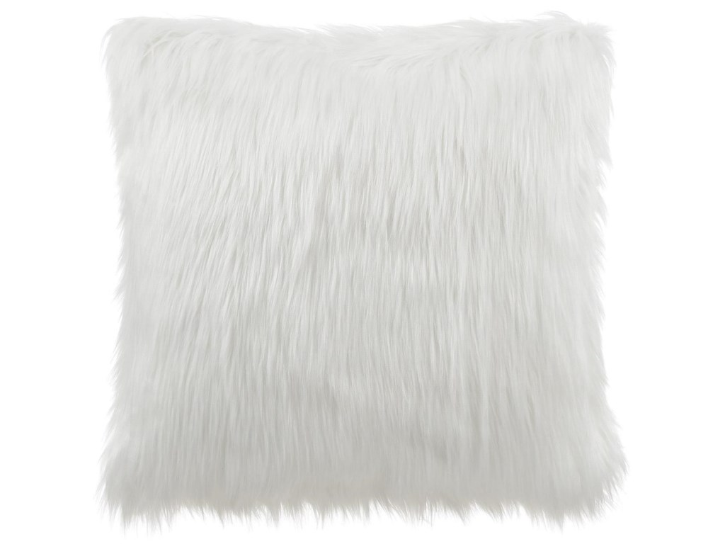 Lifestyle GPILAWhite Faux Fur Pillow