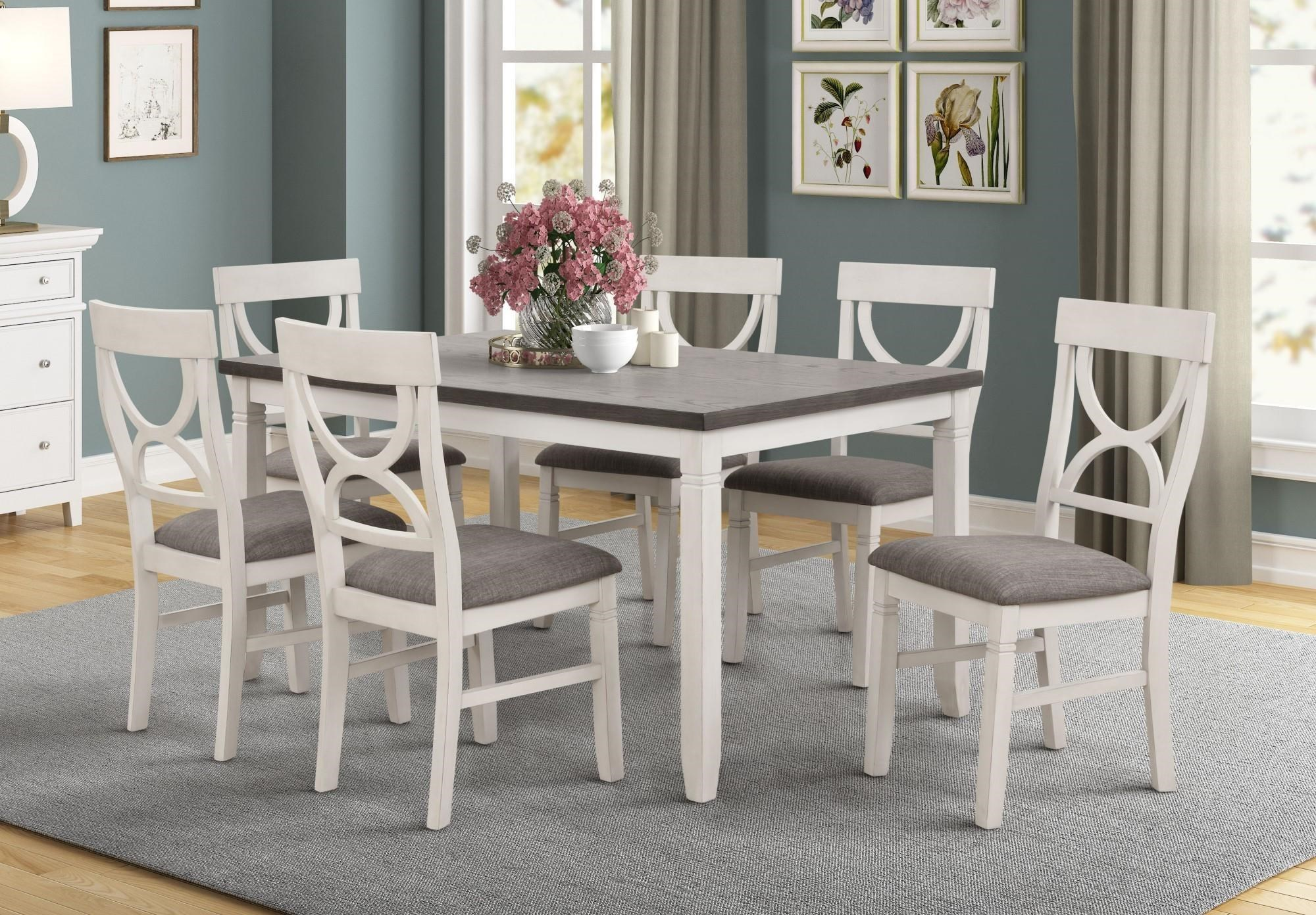 Picture of: Lifestyle Laura Dining Table With 6 Chairs Royal Furniture Casual Dining Room Groups