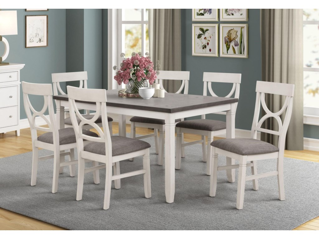 Lifestyle Laura Dining Table with 6 Chairs | Royal Furniture