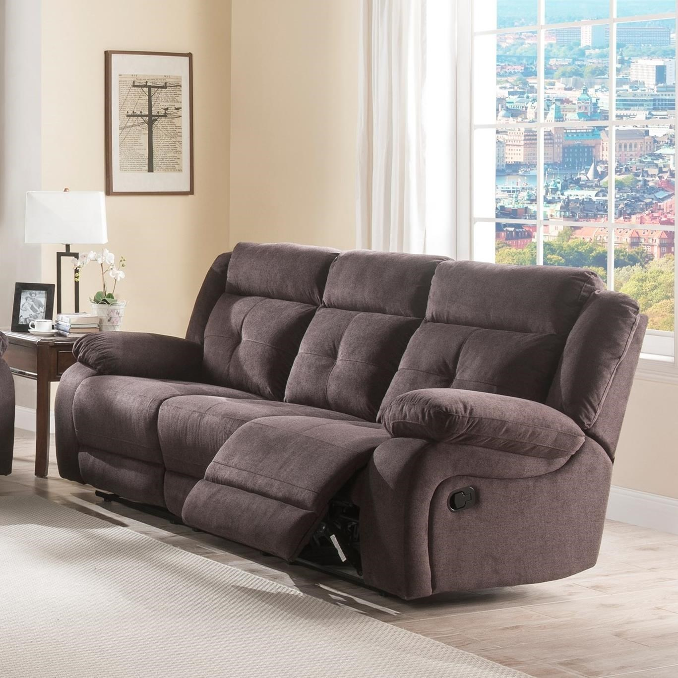 Lifestyle U12623 Casual Reclining Sofa With Pillow Arms   Becker Furniture  World   Reclining Sofas