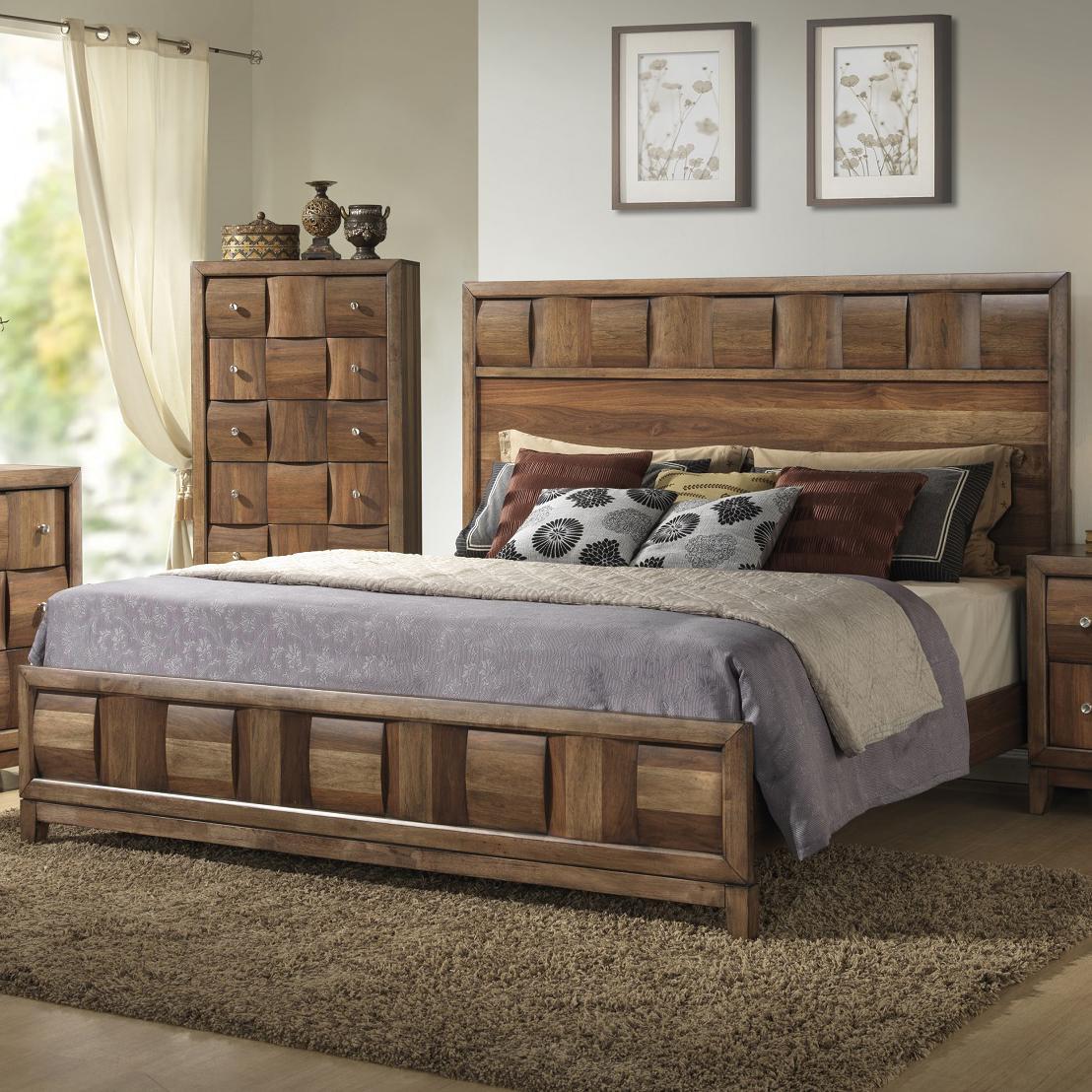 Merveilleux Lifestyle Walnut ParquetQueen Bed