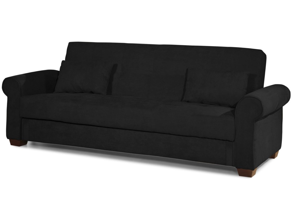 Roxbury Rolled Arm Convertible Sofa with Storage - Casual ...