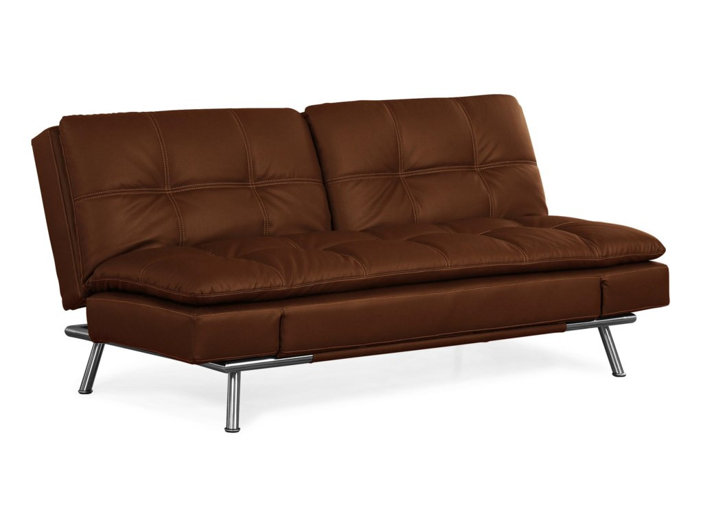 Matrix Brown Convertible Sofa - Dream Convertibles by Lifestyle ...