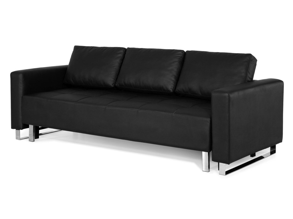 Lincoln Park Convertible Sofa in Faux Leather - Lincoln Park ...