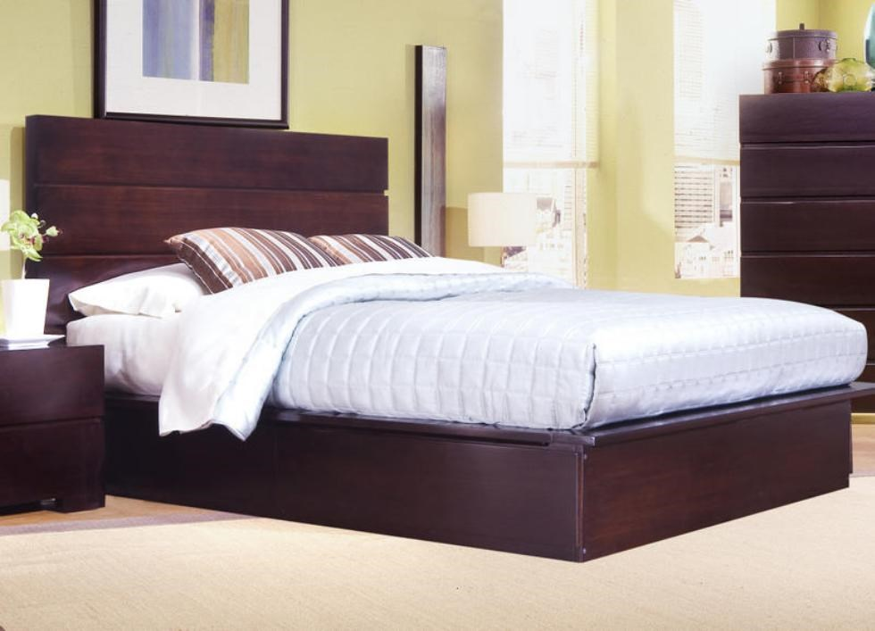 Beau Ligna Furniture CarmelQueen Storage Platform Bed