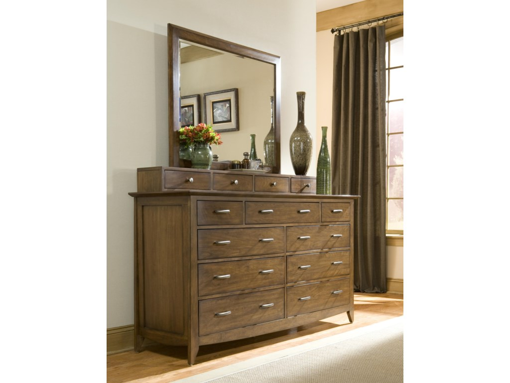 Linwood Furniture Baisley ParkDresser with Drawer Deck and Mirror