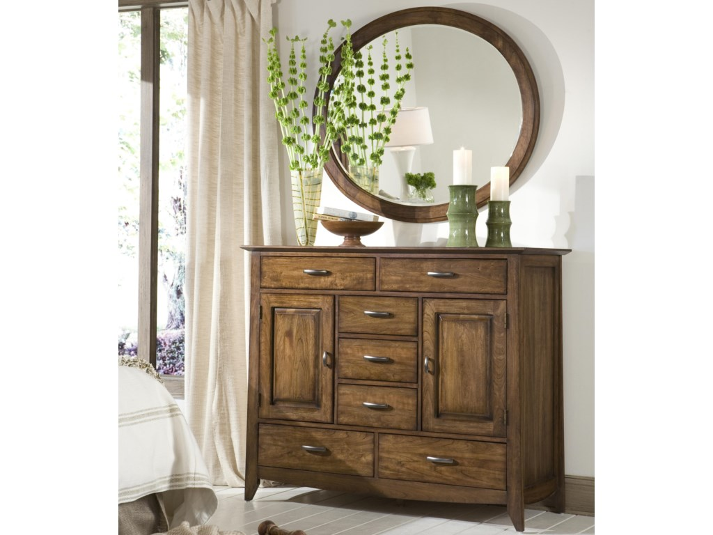 Linwood Furniture Baisley ParkDressing Chest with Oval Mirror