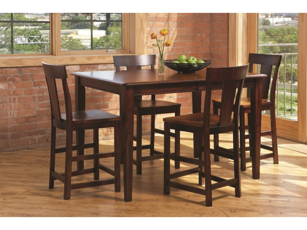 LJ Gascho Furniture Anniversary IIAnniversary 5 Piece Solid Wood Dining Set