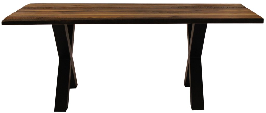 l j gascho furniture barnwood dining table with solid wood top
