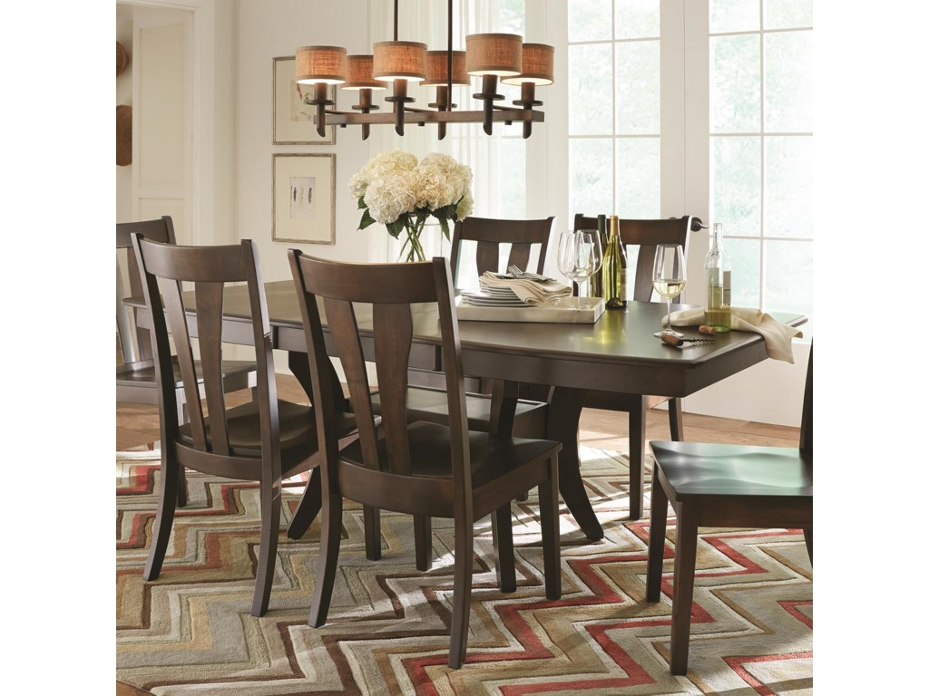 LJ Gascho Furniture Covina Dining Table With Solid Wood Top