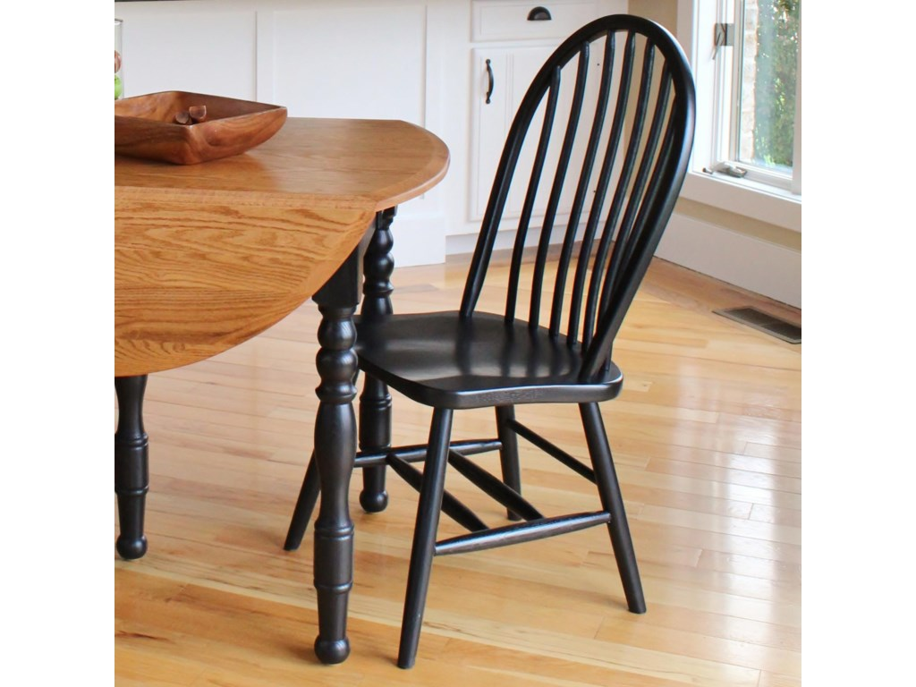 American Amish Solid Wood Dining SetsBow Spindle Side Chair
