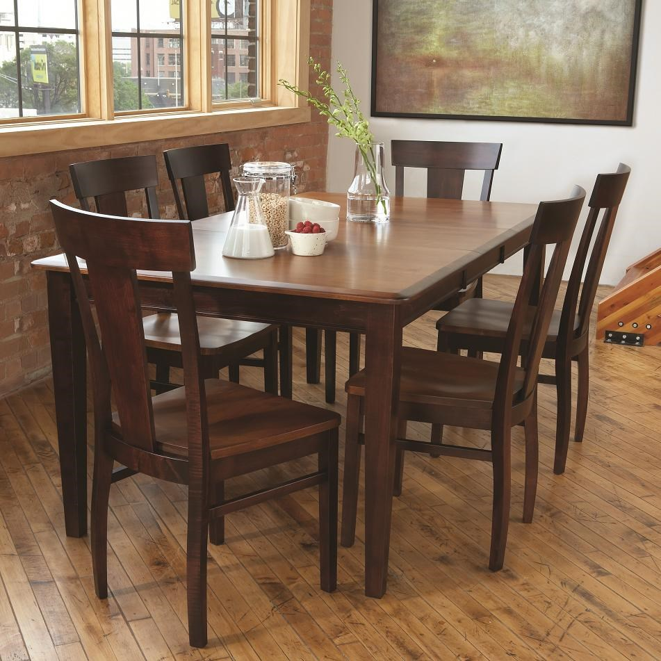 Lovely L.J. Gascho Furniture Solid Wood Dining Sets 7 Piece Dining Set