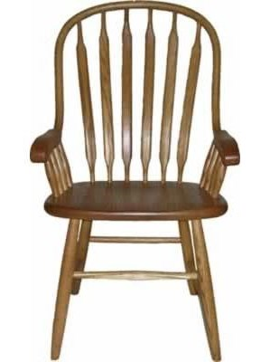 American Amish Solid Wood Dining SetsBent Paddle Arm Chair