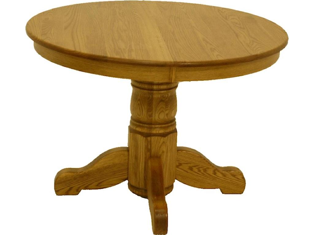 42 Inch Round Kitchen Table Lj Gascho Furniture Oak Ridge 42 Inch Round Solid Oak Pedestal