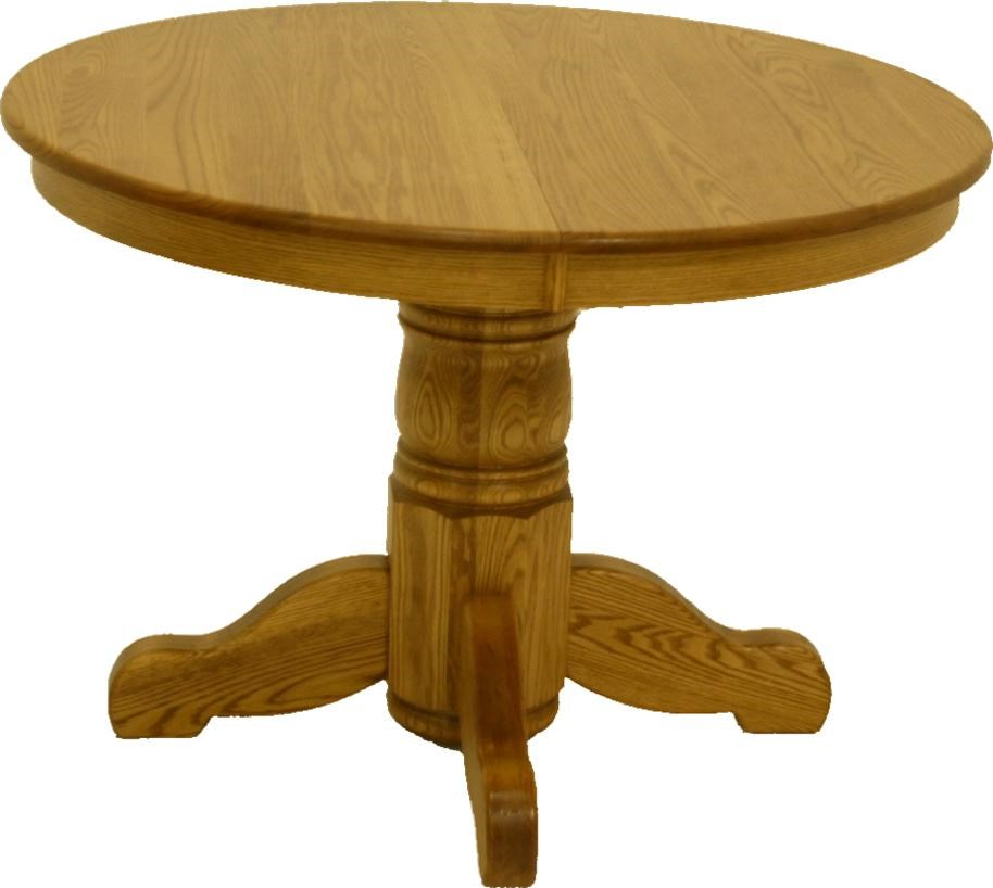 L.J. Gascho Furniture Oak Ridge 42 Inch Round Solid Oak Pedestal Table   John  V Schultz Furniture   Dining Room Table