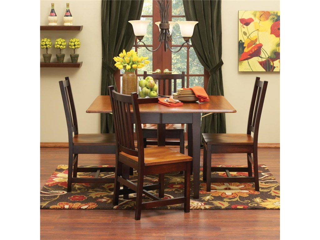L.J. Gascho Furniture SaberSaber Solid Maple 5 Piece Dining Set