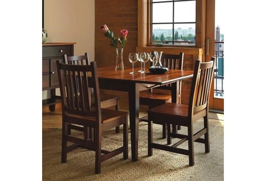 Solid Maple Drop Leaf Table Chair Set
