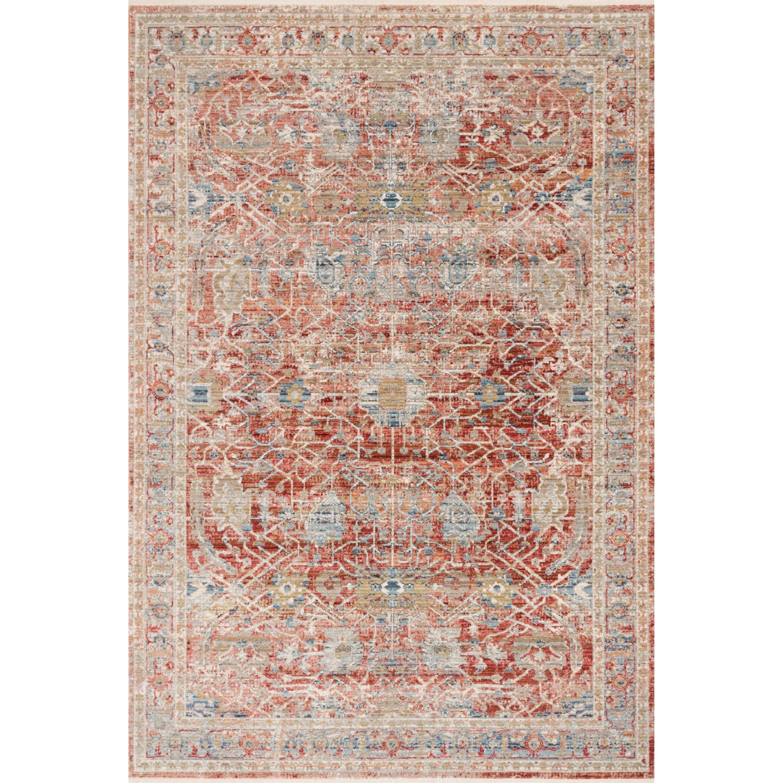 """9'6"""" x 13' Red / Ivory Rug"""