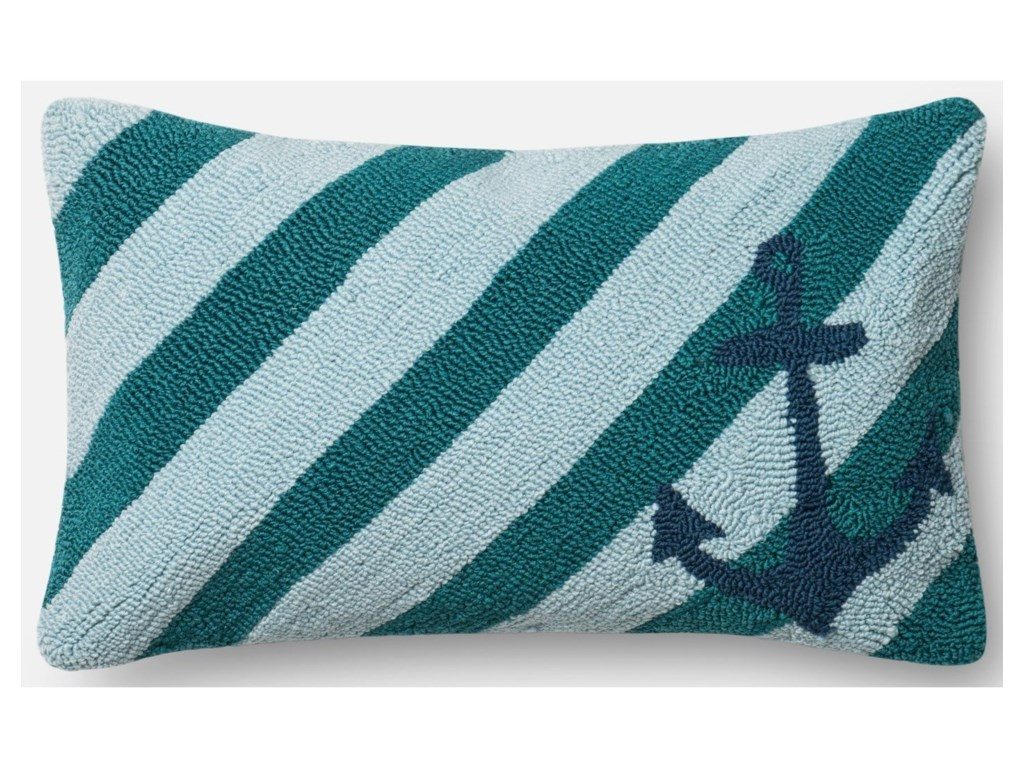 Loloi Rugs Indoor Outdoor Teal Multi 13 X 21 Down Pillow