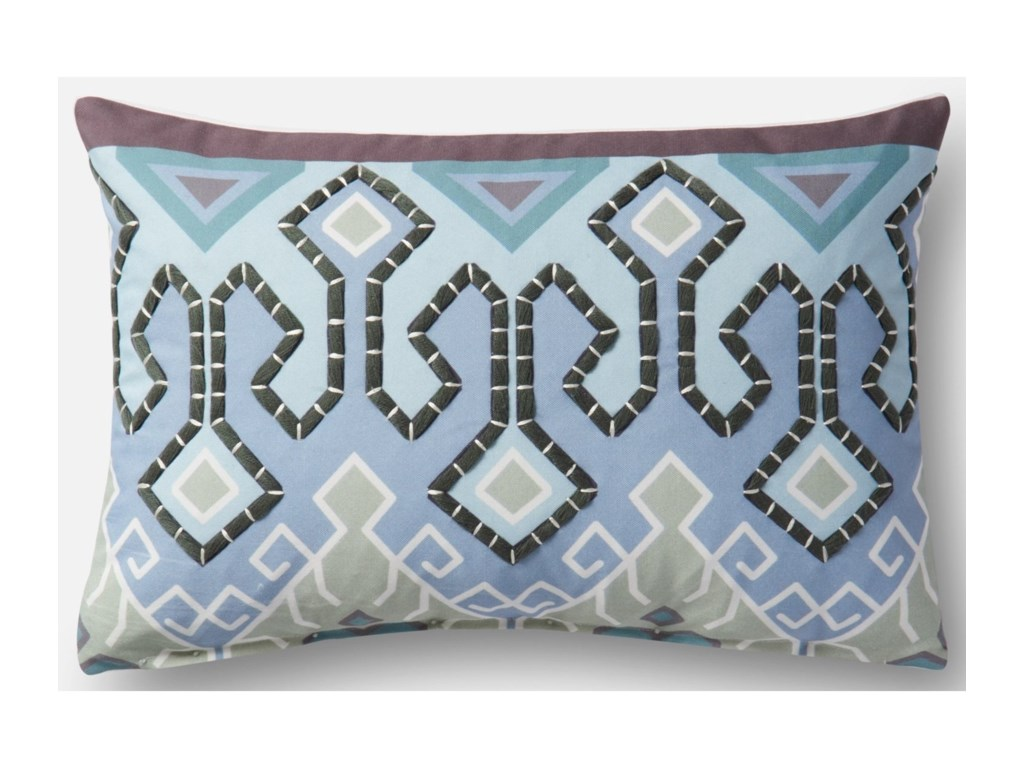 Loloi Rugs Indoor Outdoor Blue Multi 13 X 21 Down Pillow