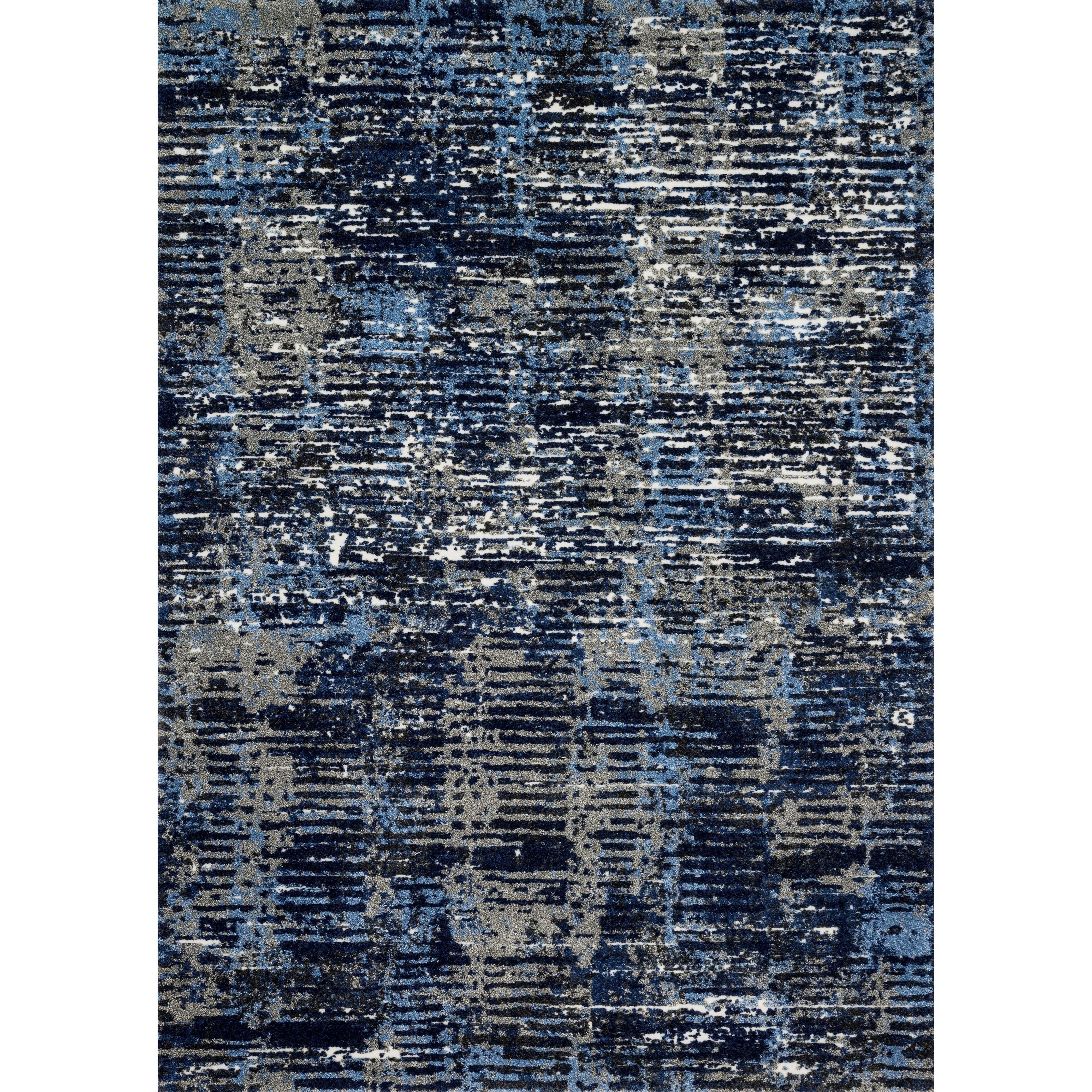 """1'6"""" x 1'6""""  Dark Blue / Grey Rug"""