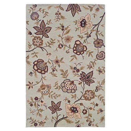 LR Resources Dazzle 8 x 10 Area Rug : Ivory