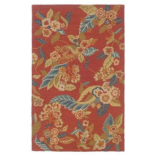 LR Resources Dazzle 8 x 10 Area Rug : Rust