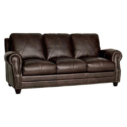 Luke Leather Solomon Italian Sofa
