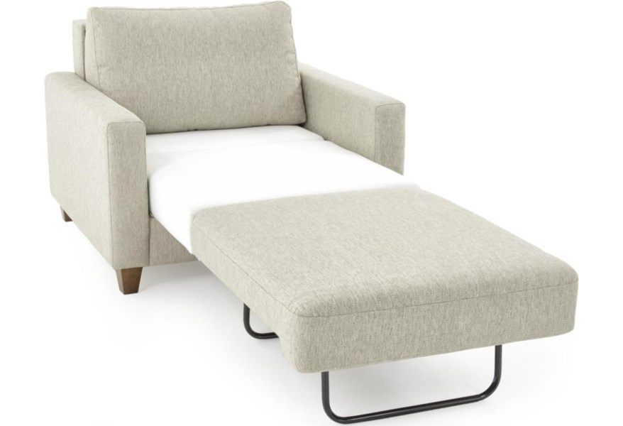 Luonto Nico 165198649 Contemporary Chair Sleeper Sofa With Twin Mattress Baer S Furniture Sleeper Sofas