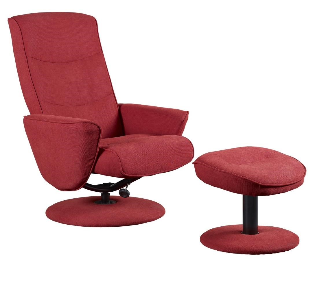 Mac Motion Chairs Mac Motion Chairs Contemporary Swivel Recliner And  Ottoman Set With Microfiber Upholstery