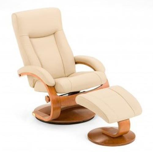 Mac Motion Chairs Oslo Collection Hamar Reclining Chair And Ottoman With  Hardwood Frame