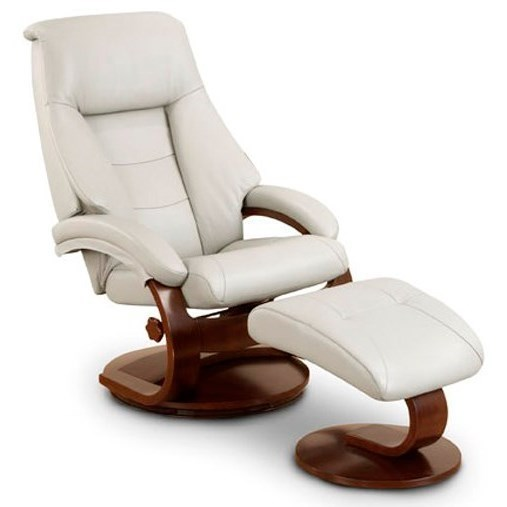 Mac Motion Chairs Oslo Collection Mandal Leather Reclining Chair And  Ottoman With Hardwood Frame