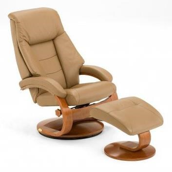 Charmant Mac Motion Chairs Oslo Collection Mandal Leather Reclining Chair And  Ottoman With Hardwood Frame