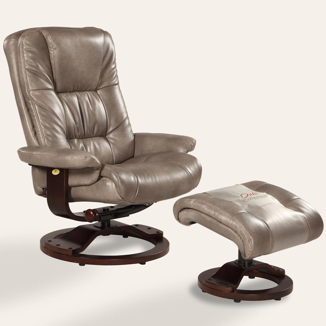Mac Motion Chairs Oslo Collection Casa Reclining Chair And Ottoman With  Hardwood Frame