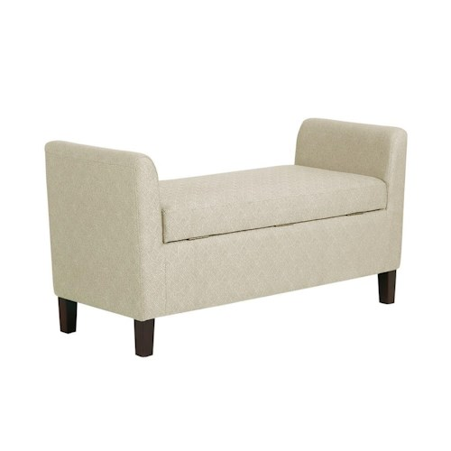 Madison Park Accessories Upholstered Storage Bench