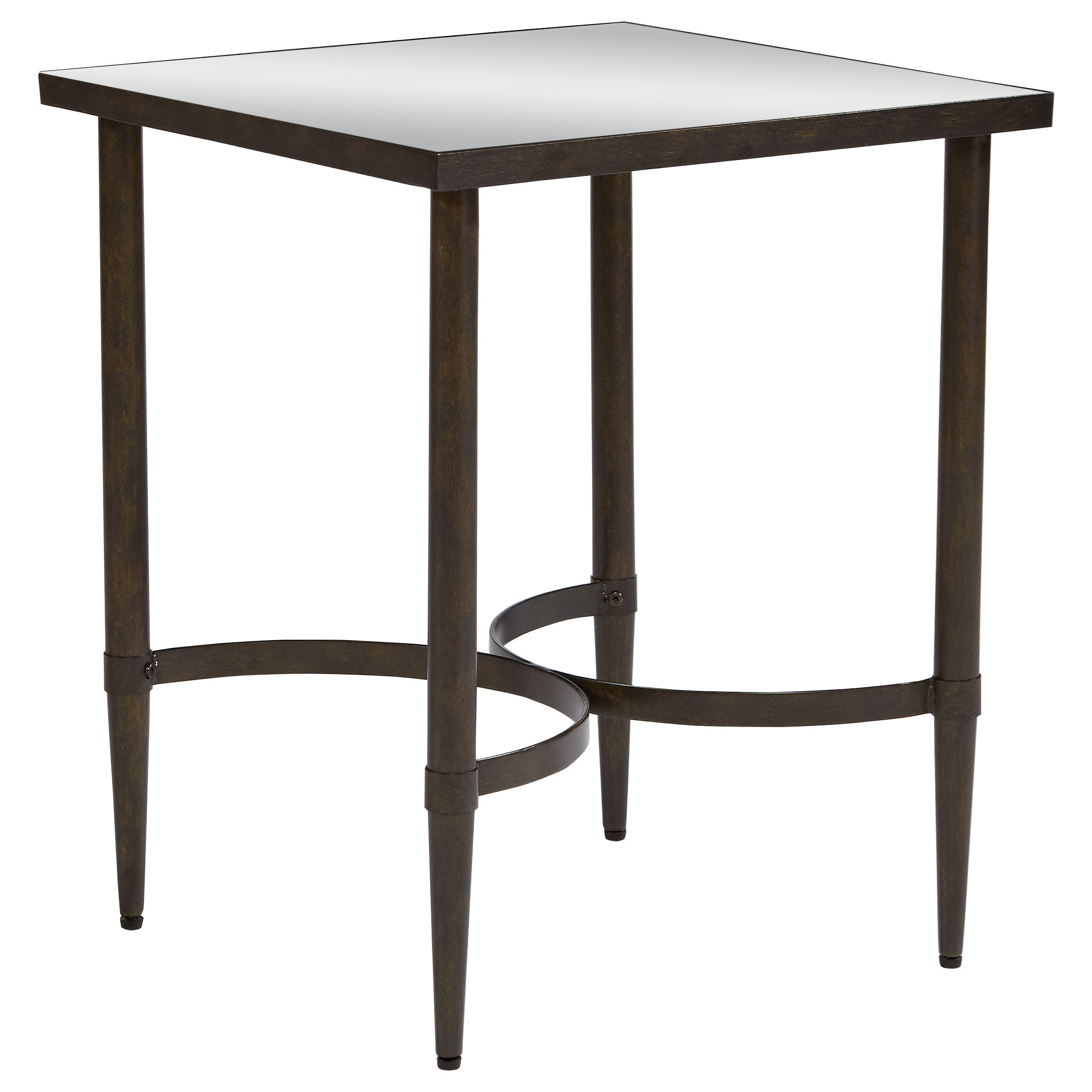 Magnolia Home By Joanna Gaines Accent Elements End Table With Mirrored Top    Great American Home Store   End Tables