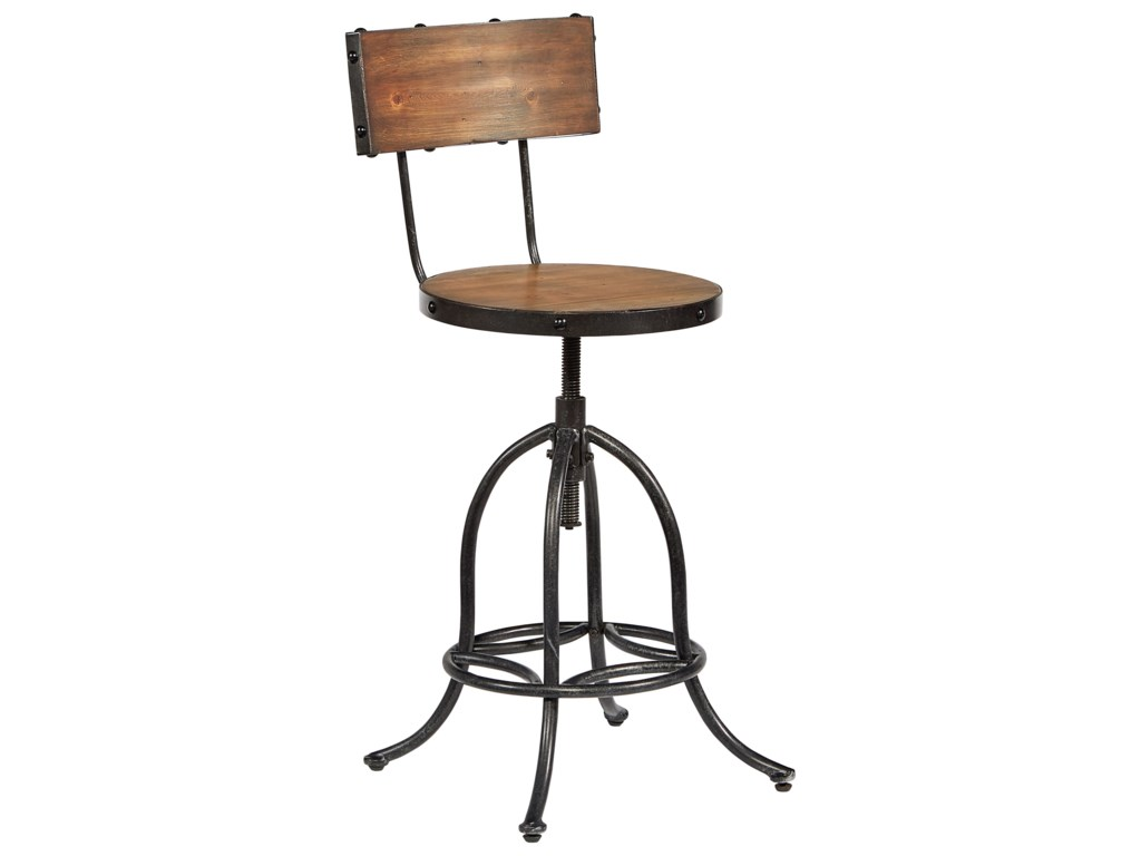 Magnolia Home by Joanna Gaines Accent ElementsArchitect Stool with Bronze Legs