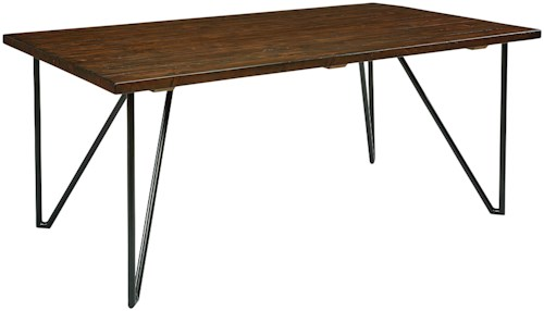 Magnolia Home by Joanna Gaines Boho 8' Hairpin Dining Table with Metal Hairpin Legs