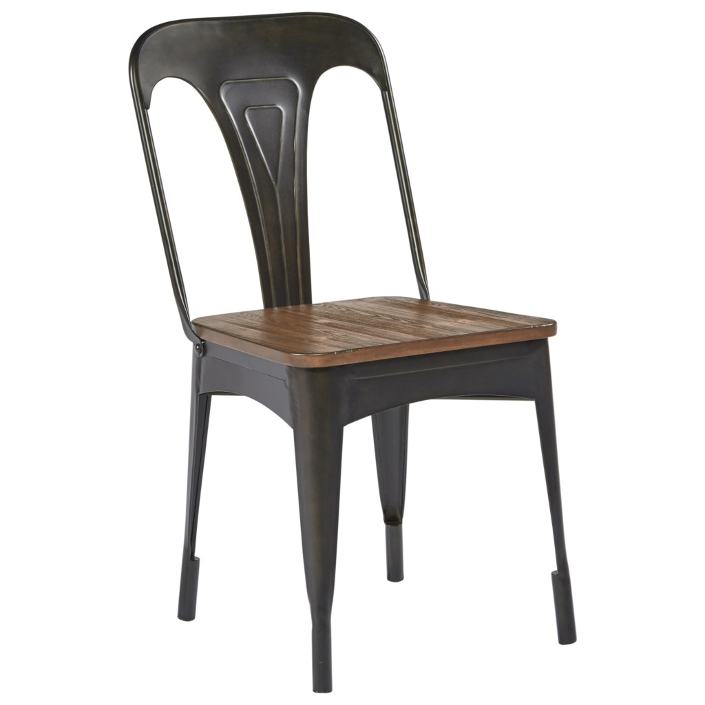 magnolia home by joanna gaines boho metal cafe chair with barn