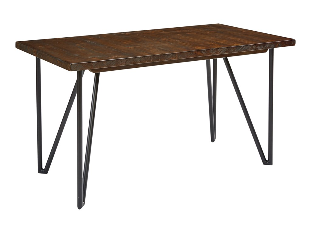 Magnolia Home By Joanna Gaines Boho Hairpin Desk With Planked Wood Top