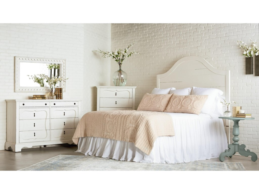Magnolia Home by Joanna Gaines French InspiredSilhouette Five Drawer Chest - Jo's White