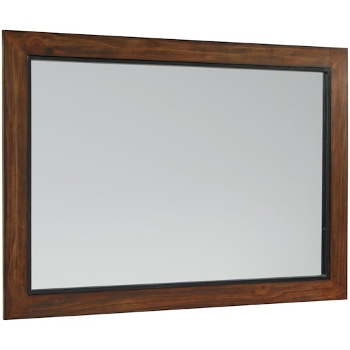 Rustic Industrial Wood Framed Mirror with Milk Crate Finish ...