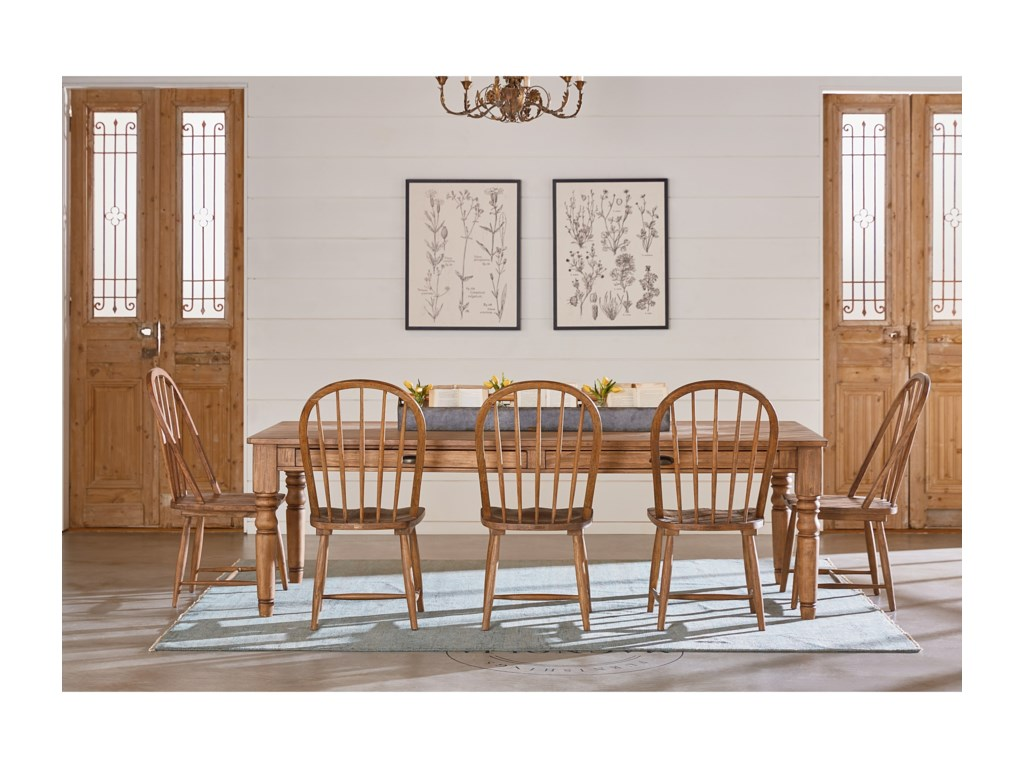 Magnolia Home by Joanna Gaines Primitive7 Foot Taper Turned Dining Table