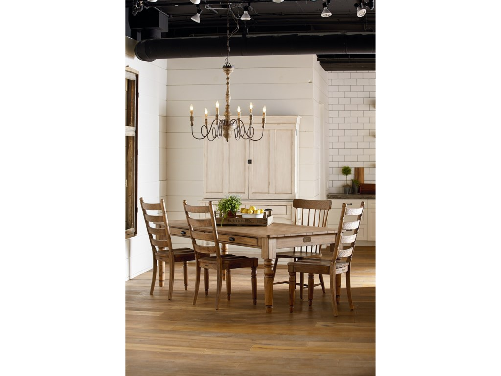 Magnolia Home by Joanna Gaines Primitive 8 Foot Taper Turned Dining ...