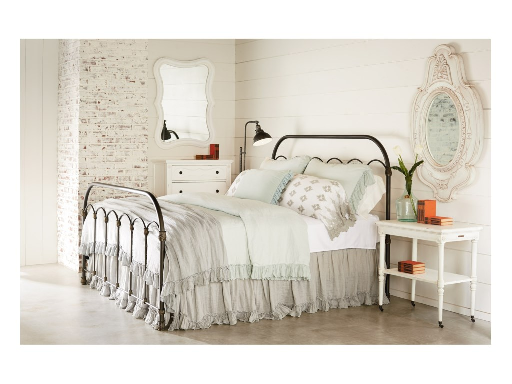 Magnolia Home by Joanna Gaines PrimitiveKing Colonnade Metal Bed