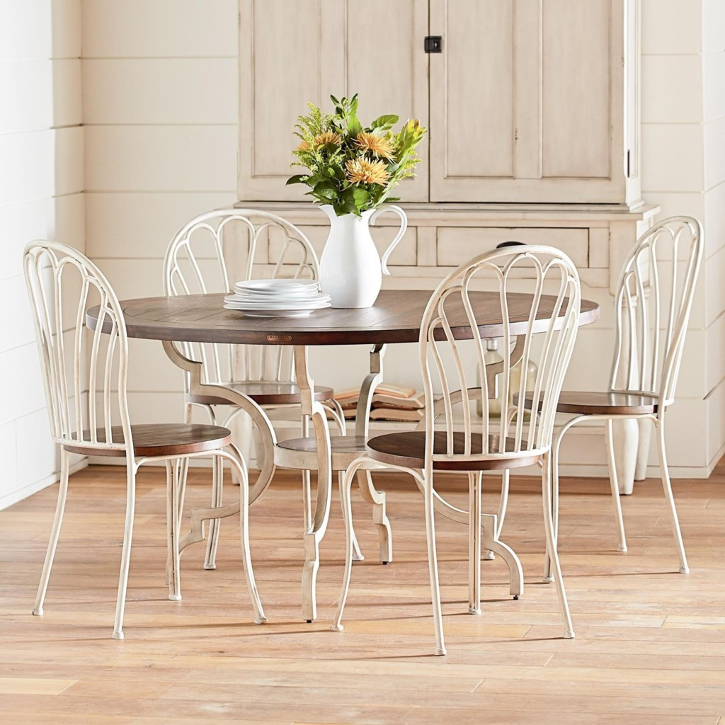 Magnolia home by joanna gaines primitive5 piece round table chair set
