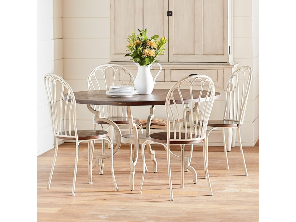 Magnolia Home by Joanna Gaines Primitive 5 Piece Round Table & Chair ...