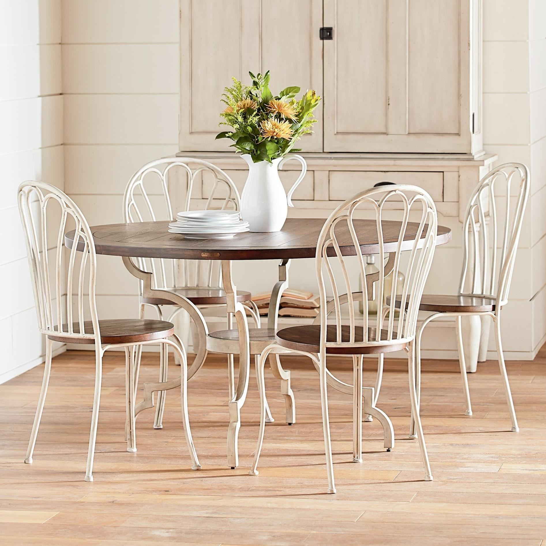 Magnolia Home By Joanna Gaines Primitive 5 Piece Round Table U0026 Chair Set    Olindeu0027s Furniture   Dining 5 Piece Sets