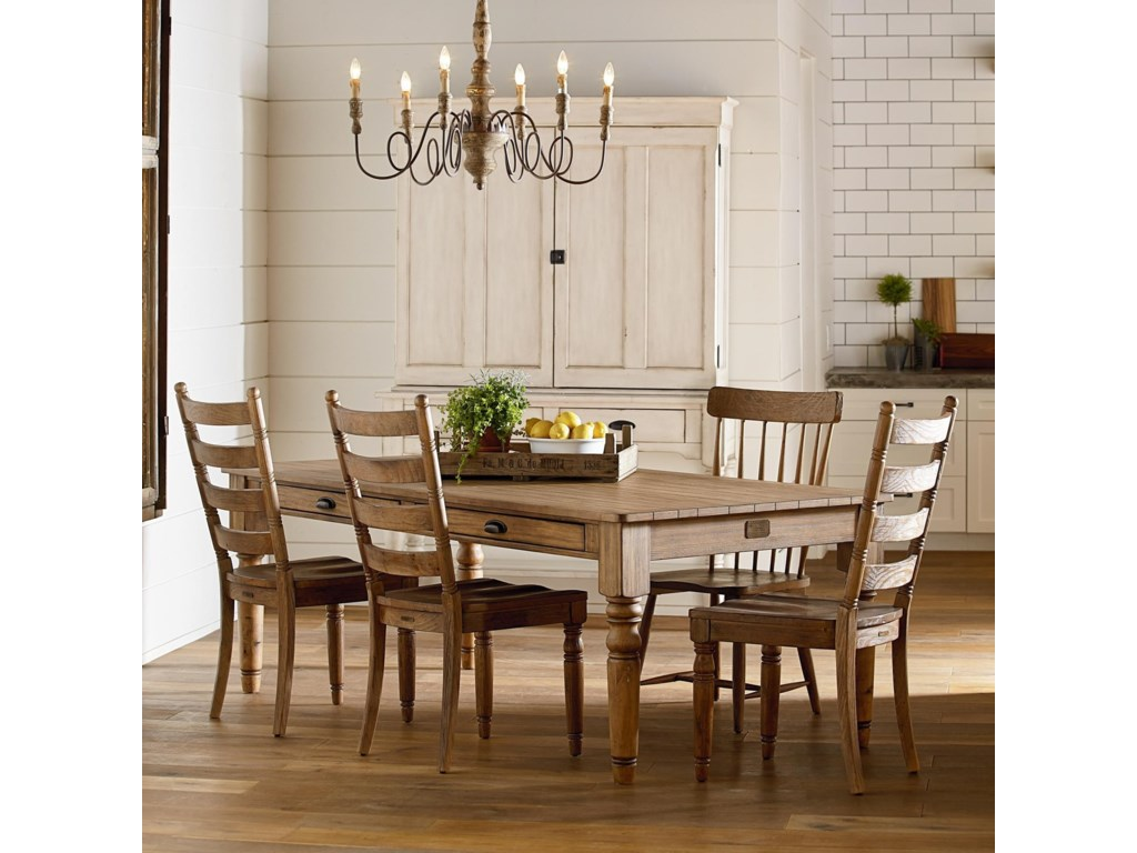 Magnolia Home by Joanna Gaines Primitive Primitive Dining Room Group ...
