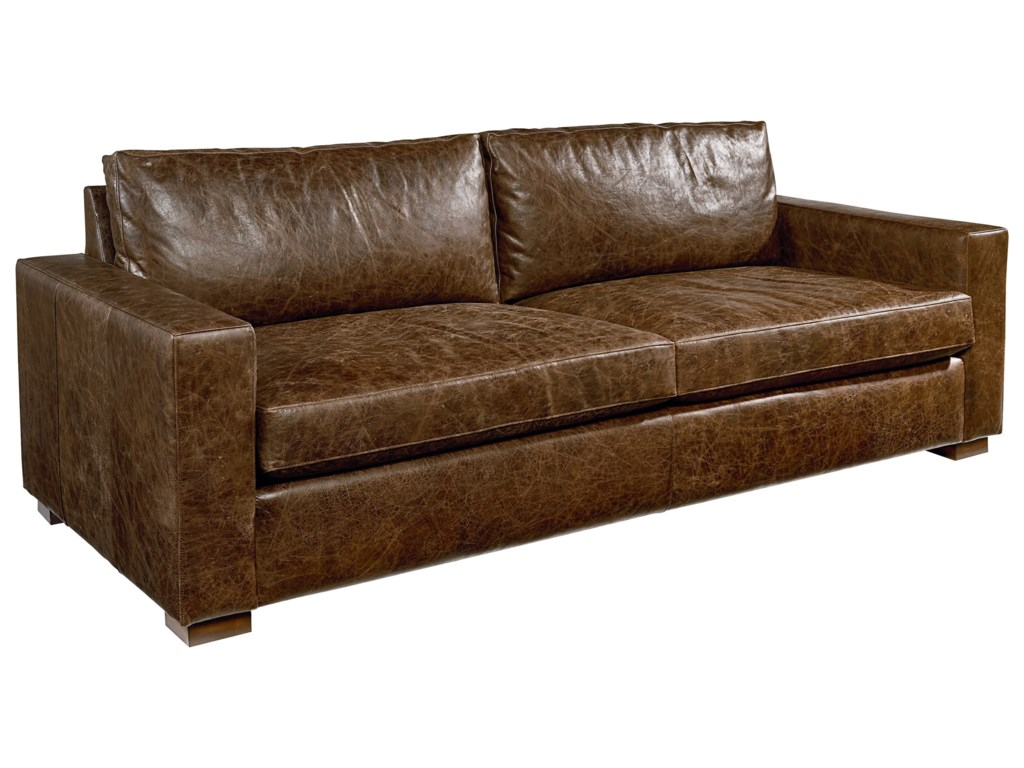 magnolia home by joanna gaines southern sown leather sofa great american home store sofas